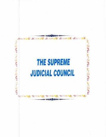 Page 1 »i n . SÍ THE SUPREME JUDICIAL COUNCIL mävü T 'gli ...