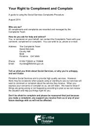 Tell us what you think about social services! - Flintshire County ...