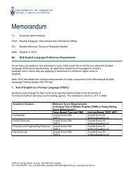 SGS English Language Proficiency Requirements - School of ...