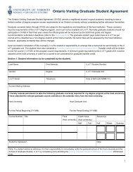 Ontario Visiting Graduate Student (OVGS) Agreement - School of ...