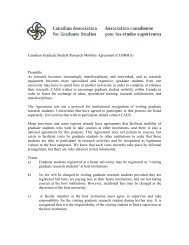 Canadian Graduate Student Research Mobility Agreement (CGSRMA)
