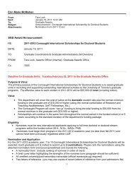 The Connaught International Scholarships for Doctoral Students ...