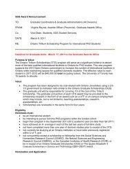The Ontario Trillium Scholarship Program for International PhD ...