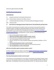 Best Practices for Managing Graduate Student Records - School of ...