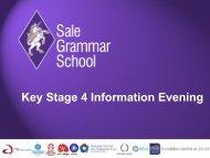 Key Stage 4 Information Evening - Sale Grammar School