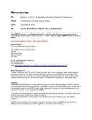 Call for Nominations - The John C. Polanyi NSERC Award 2011-2012