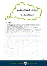 Manifest MVO Nederland