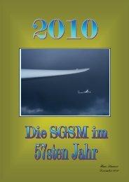 Das Jahr 2010 - Segelfluggruppe Siemens München eV