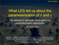 What LES tell us about the parameterisation of  and  - Convection