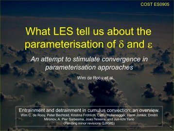 What LES tell us about the parameterisation of  and  - Convection