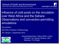 Influence of cold pools on the circulation over West ... - Convection
