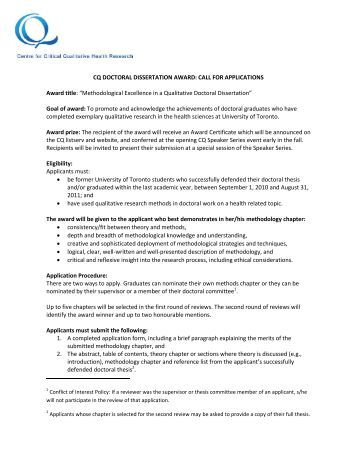 Dissertation proposal outline qualitative research