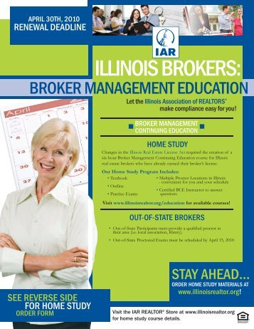 BROKER FLYER 09:Layout 1.qxd - Illinois Association of REALTORS