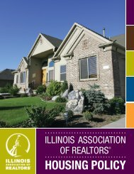 Housing Policy (pdf) - Illinois Association of REALTORS