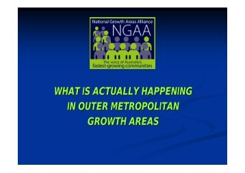 What is actually happening in growth areas presentation - NGAA ...