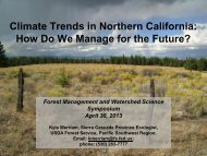 Climate Trends in Northern California: How Do We Manage for the ...