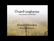 Óværð ungbarna- það sem snýr rá skurðlækni