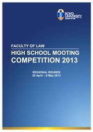 COMPETITION 2013 - Bond University