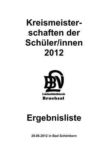 Kreismeisterschaften der Schüler/innen - TSV BADEN Östringen