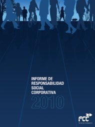 Informe de Responsabilidad Social Corporatica 2010 - FCC