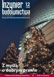 Grudzień 2008 - Polska Izba Inżynierów Budownictwa