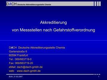 DACH Deutsche Akkreditierungsstelle Chemie - Bua-verband.de
