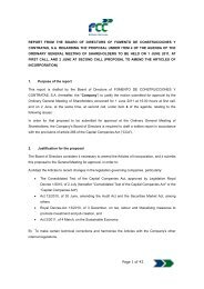 Proposal to amend the articles of incorporation - FCC