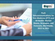 Worldwide Push Telecommunications for Tele-Medicine (PTT) and M-Health Market Growth, Demand 2015-2021