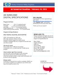 AD SIZES AND DIGITAL SPECIFICATIONS - SAME Anchorage Post