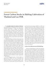 Forest Carbon Stocks in Shifting Cultivation of Thailand and Lao PDR