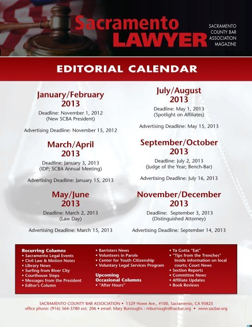 2013 Media Kit - Sacramento County Bar Association