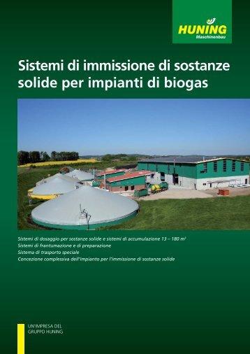 Sistemi di immissione di sostanze solide per impianti di biogas