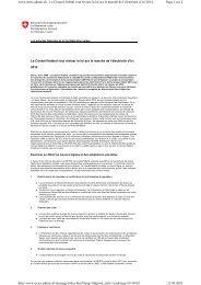 Le Conseil fédéral veut réviser la loi sur le marché de l'électricité d ...