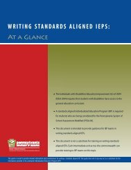WRITING STANDARDS ALIGNED IEPS: - Lincoln Intermediate Unit 12