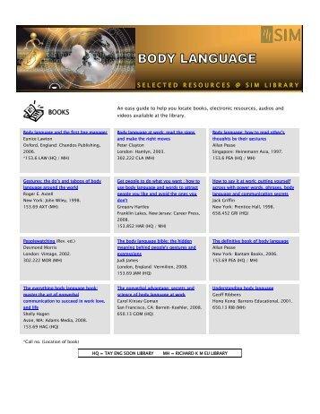 Body language - Singapore Institute of Management