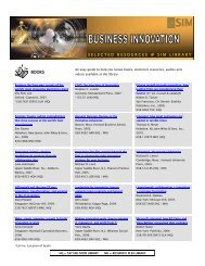 Business Innovation - Singapore Institute of Management