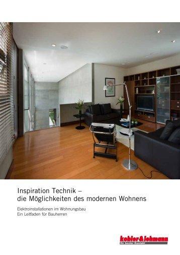 Inspiration Technik – die Möglichkeiten des modernen Wohnens