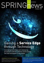 Gaining a Service Edge through Technology - Association of ...