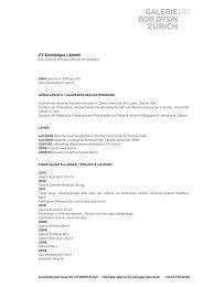 Biographie PDF - Galerie Bob Gysin