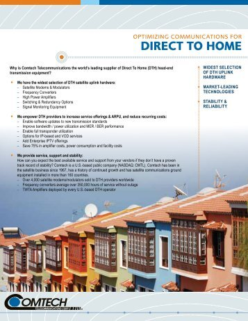 DIRECT TO HOME - Comtech EF Data