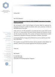 16 May 2013 Dear ACES Members, Outcome of Amendment of ...