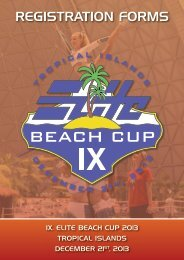 Registration Forms Beach Cup 2013 (english) - ELITE Cheerleading