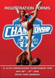 Registration Forms The European Open 2012 - ELITE Cheerleading