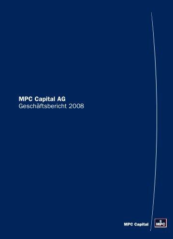 MPC Capital AG Geschäftsbericht 2008
