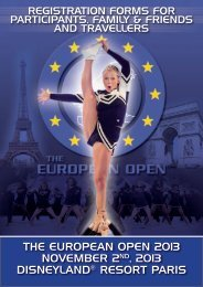 Registration Forms The European Open 2013 - ELITE Cheerleading