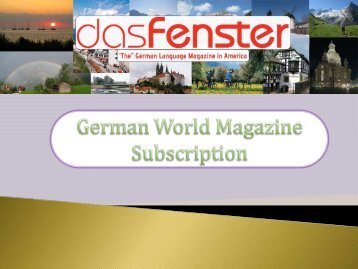 German World Magazine Subscription
