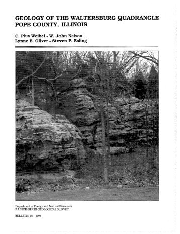 GEOLOGY OF THE W m T E RANGLE POPE COUNTY, ILLINOI