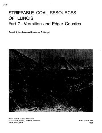Strippable Coal Resources of Illinois - University of Illinois at Urbana ...