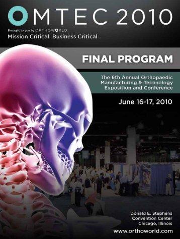 Final Program - omtec