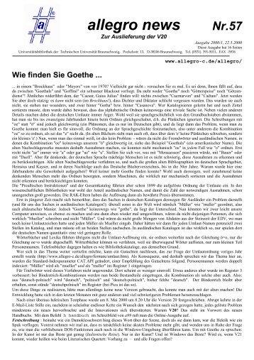Nr.57 allegro news 2000/1 - allegro-C
